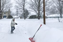 Shoveling Snow During the Storm