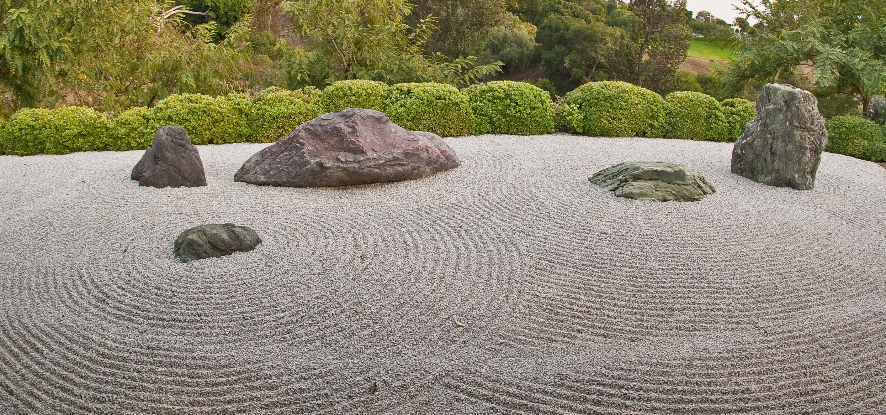 Zen garden in the Japanese Friendship Garden, Balboa Park, San Diego